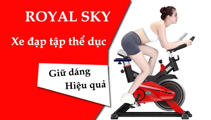 xe đạp tập thể dục royal sky